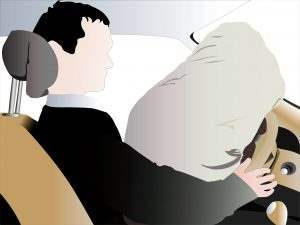 Animated airbag opening view