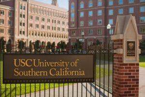 the sign outside of USC